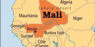 Mali Kort Kort Mali Vestlige Afrika Afrika